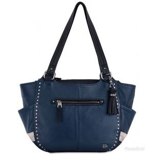 THE SAK Kendra Blue Leather Shoulder Handbag Purse